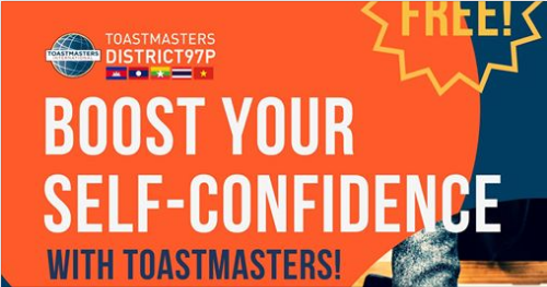 Boost your Self Confidence with Toastmasters
