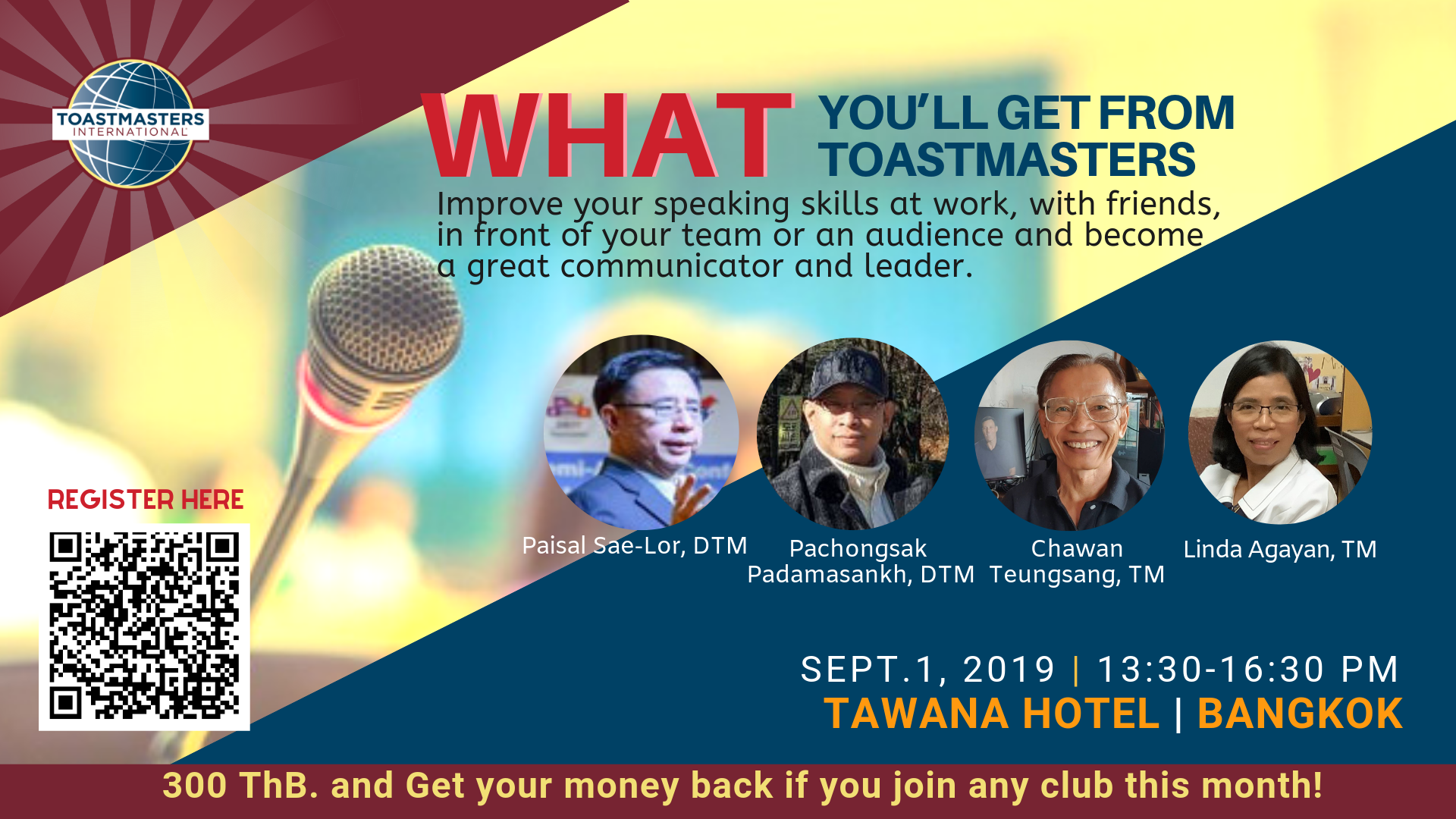 What you'll get from Toastmasters