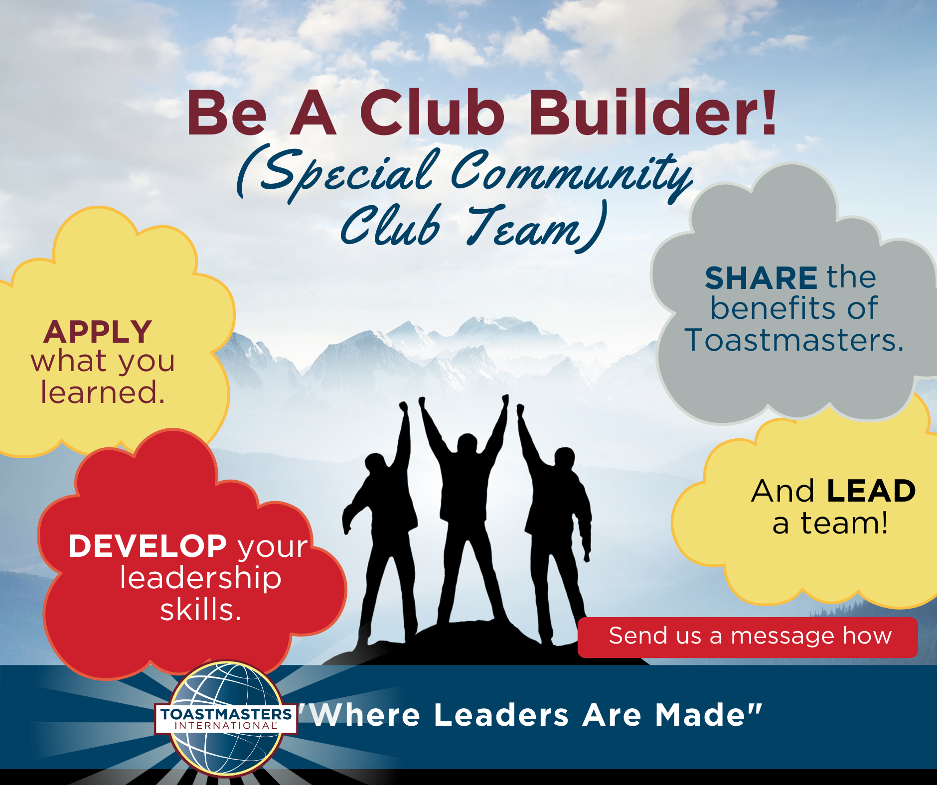 BE A CLUB BUILDER!