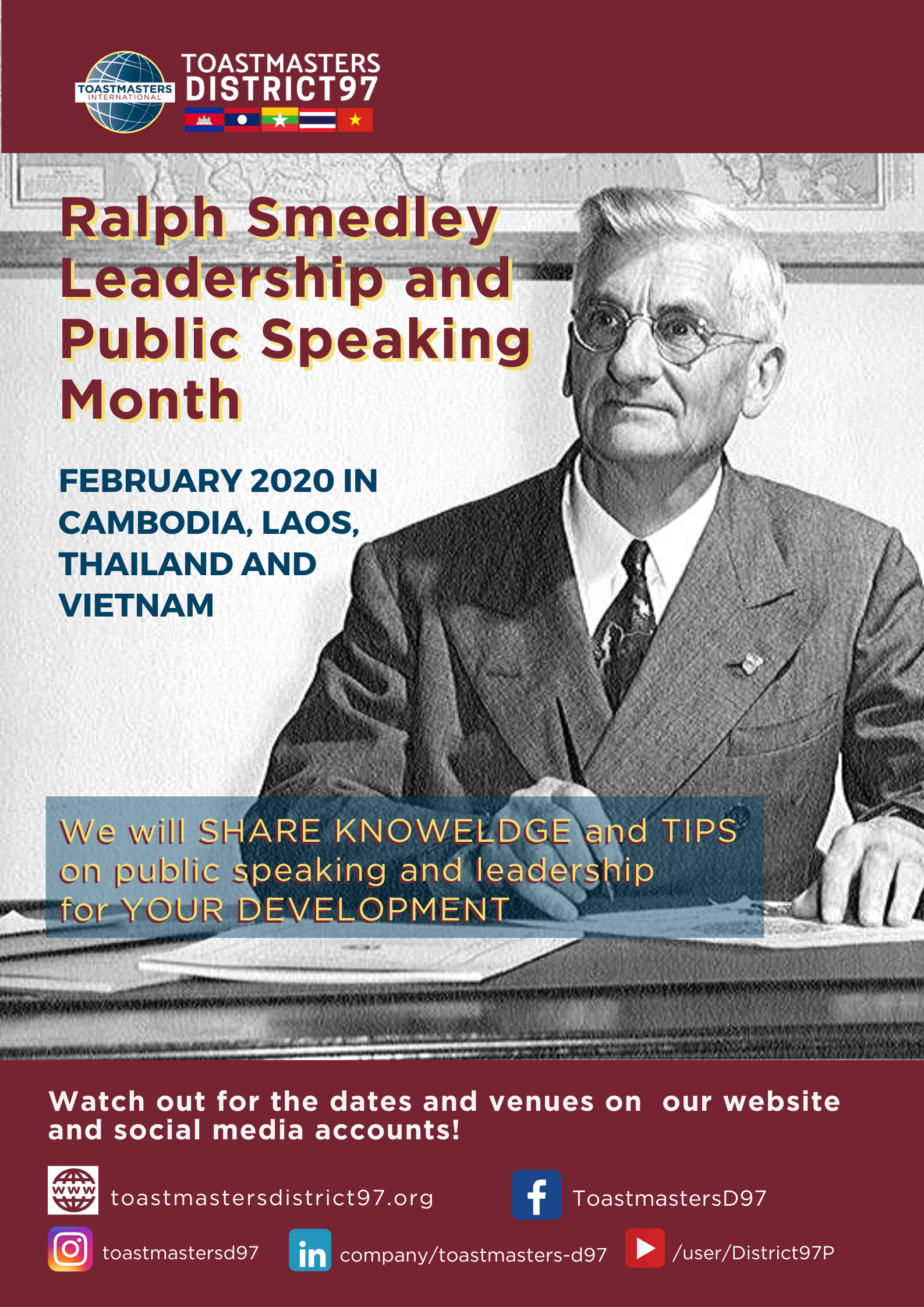 Ralph Smedley Leadership and Public Speaking Month