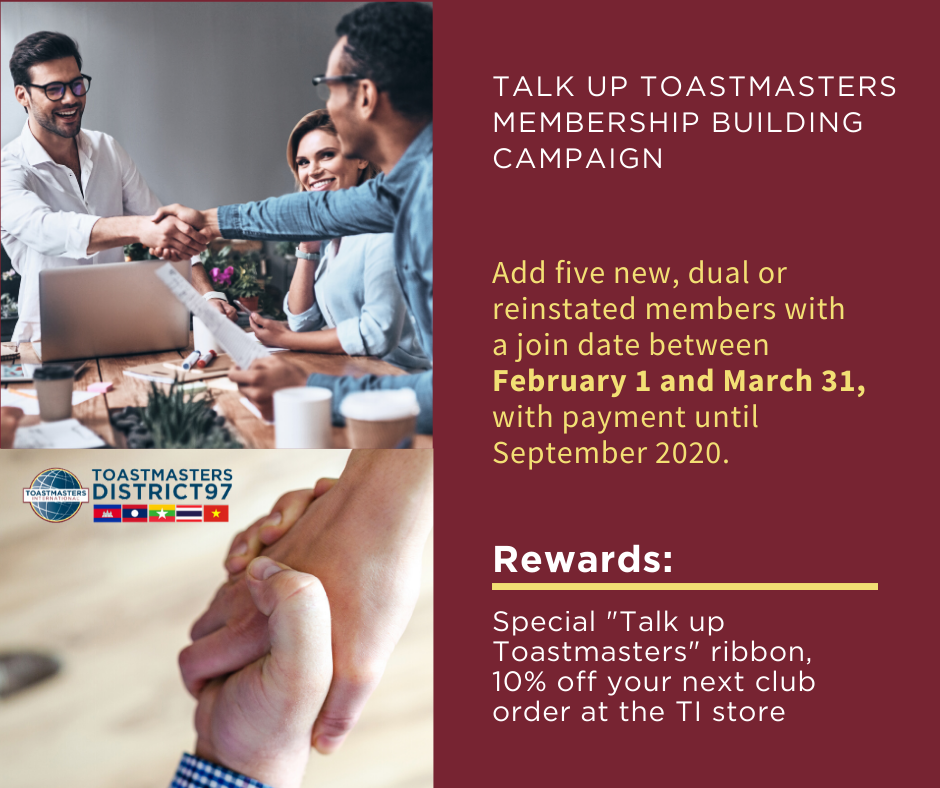 Talk Up Toastmasters Campaign